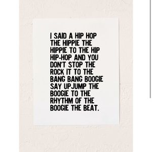 Urban Outfitters Rapper's Delight Art Print